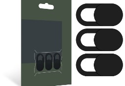 Zaślepka Na Kamerę 3 sztuki Webcam Cover Black
