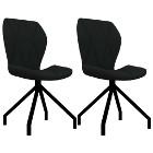 vidaXL Krzesła stołowe, 2 szt., czarne, sztuczna skóra282552