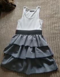 Sukienka z bawełny, falbany, lato S