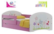 łóżko dziecięce 140x70 z szufladą i wysokiej jakości nadrukiem UV