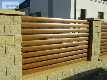 Ogrodzenia drewnopodobne poziome