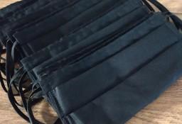 Maseczki ochronne czarne bawełna
