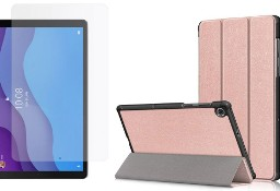 Etui do Lenovo Tab M10 2nd gen 10.1 Rose Gold + Szkło