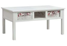 vidaXL Stolik kawowy, biały, 99,5 x 60 x 48 cm, drewniany287845