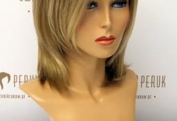 Peruka półdługa z włosa syntetycznego w odcieniu blondu Włoszczowa