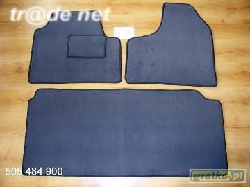 Fiat Ulysse I 1995-2002 3 rzędy + bagażnik najwyższej jakości dywaniki samochodowe z grubego weluru z gumą od spodu, dedykowane Fiat Ulysse