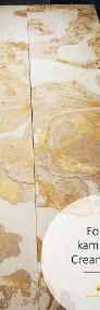 Złoty fornir kamienny na ścianę CREAM GOLD 122x61-3