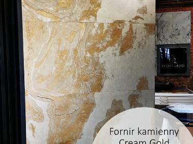 Złoty fornir kamienny na ścianę CREAM GOLD 122x61-1