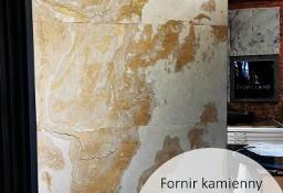 Złoty fornir kamienny na ścianę CREAM GOLD 122x61