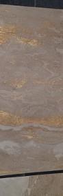 Złoty fornir kamienny na ścianę CREAM GOLD 122x61-4