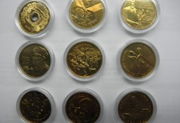 Kompletny 2003  rok monet dwuzłotowych w kapslach  szt.9
