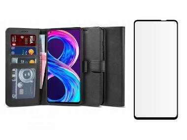 Etui Portfel Wallet 2 + Szkło do Realme 8 / 8 Pro-1