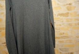 (34/XS) ASOS/ Szara, rozkloszowana sukienka dzianinowa z Londynu