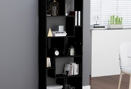 vidaXL Regał, wysoki połysk, czarny, 67x24x161 cm, płyta wiórowa801884