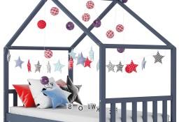 vidaXL Rama łóżka dziecięcego, szara, lite drewno sosnowe, 80 x 160 cm283371