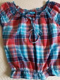 Bluzeczka z bawełny kratka  36