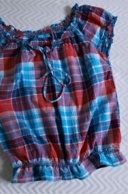 Bluzeczka z bawełny kratka  36-2