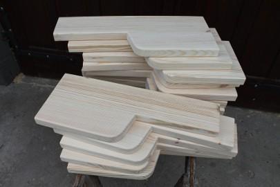 TREP 80cm STOPIEŃ KACZY SOSNOWY Schody kacze z Drewna Sosnowego Sosna - PRODUCENT