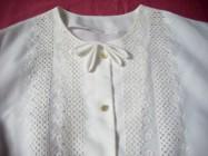 Elegancka Biała koszula z kokardką 46 48