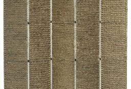 vidaXL 5-panelowy parawan pokojowy, brązowy, 193x160 cm, hiacynt wodny247351