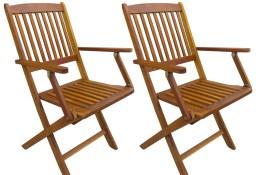 vidaXL Składane krzesła ogrodowe, 2 szt., lite drewno akacjowe 43377