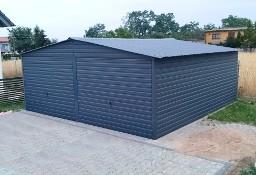 Garaż Blaszany Blaszak Hala metalowa garażowa 6x6 m Dwustanowiskowy Dwuspadowy Dach Kolor, bramy, okucia