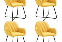 vidaXL Krzesła do jadalni, 4 szt., żółte, tapicerowane tkaniną277108
