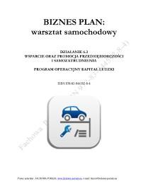 BIZNESPLAN na założenie warsztatu samochodowego 2015