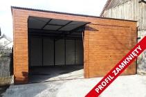 Garaż blaszany drewnopodobny I Gatunek blaszak jednospadowy 7x7m
