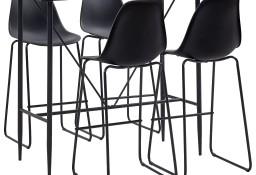 vidaXL 5-częściowy zestaw mebli barowych, plastik, czarny279851