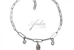 Bransoletka srebrna z cyrkoniami - modna włoska biżuteria