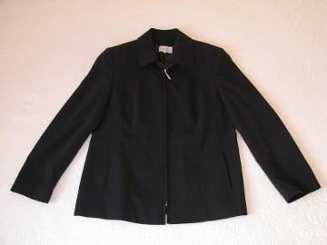 Czarny, klasyczny żakiet na zamek, marynarka, blezer, rozm. 42 / XL