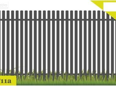 Ogrodzenie przęsło ogrodzeniowe P11a 120X200cm ocynk+kolor-1