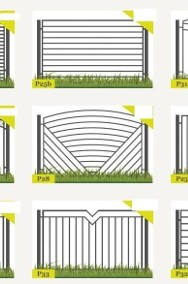 Ogrodzenie przęsło ogrodzeniowe P11a 120X200cm ocynk+kolor-2