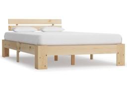 vidaXL Rama łóżka, lite drewno sosnowe, 120 x 200 cm 283162