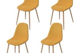 vidaXL Krzesła stołowe, 4 szt., żółte, tkanina243871