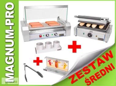 Zestaw do robienia hot dogów: średni, podgrzewacz, grill akcesoria-1
