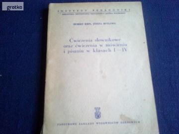 Ćwiczenia słownikowe oraz ćwiczenia w mówieniu i pisaniu w kl I-IV