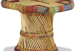 vidaXL Stolik kawowy z detalami w stylu chindi, bambus, wielokolorowy244214