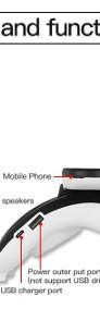 Multifunkcyjny Bezprzewodowy telefon Komórkowy i Stacjonarny z Power bankiem Business Black Nowatorski projekt-4