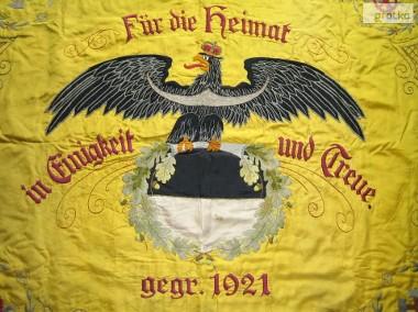 Stara Przedwojenna Świdnica 1925 - Sztandar Alte Fahne Schweidnitz-1