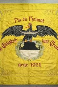 Stara Przedwojenna Świdnica 1925 - Sztandar Alte Fahne Schweidnitz-2