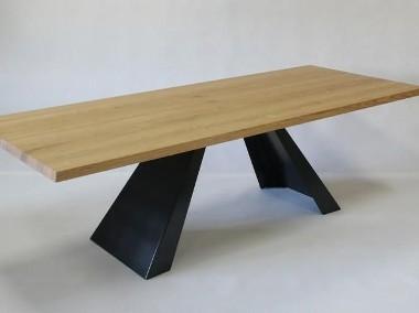 stół salonowy Victorio - dębowy, lite drewno szczotkowane-1