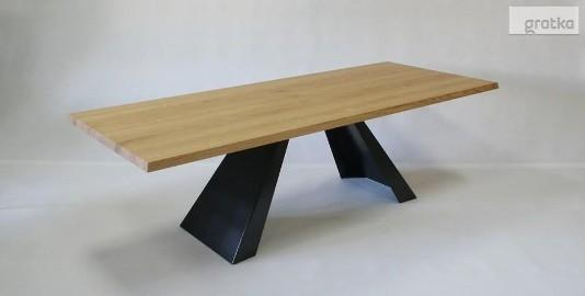 stół salonowy Victorio - dębowy, lite drewno szczotkowane