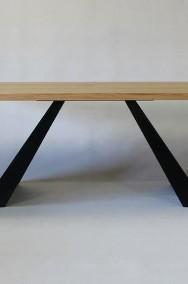 stół salonowy Victorio - dębowy, lite drewno szczotkowane-2