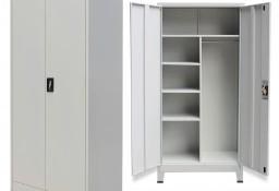 vidaXL Szafa biurowa dwudrzwiowa, stalowa, 90 x 40 x 180 cm, szara20154