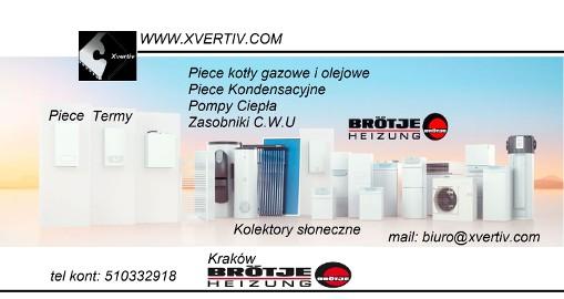 Firma XVERTIV-Ogrzewanie SOLARNE ,BROTJE, WOLF,PIECE,PANELE SOLARNE,PRÓŻNIOWE