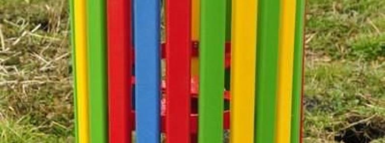 Kosz na śmieci duży HDPE plac zabaw-1