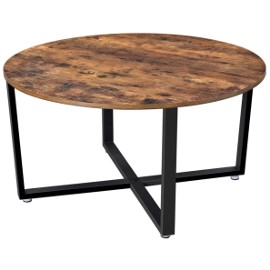 Stolik kawowy okrągły, industrialny, loft. Ława rustykalna