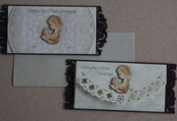 Kartka Chrzest Chrzciny  Drewniana Drewno karta